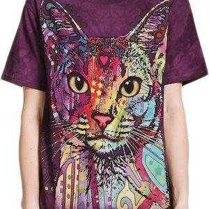 The Mountain Abyssinian Cat Tie Dye Tee Tshirt M